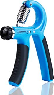 BOGI Hand Grip Strengthener Strength Trainer Therapy Hand Gripper - Adjustable Resistance 22-110 Lbs Hand Exerciser Non-Slip Gripper- Perfect for Athletes Pianists Climbing