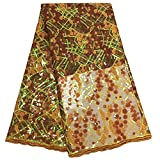 NO LOGO African Fabric Französisch-Spitze-Braut bestickte
