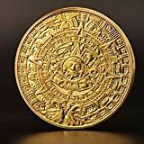 Mayan Aztec Mexico Mayan Prophecy Gold plated Challenge Coin