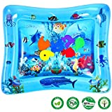 Baby Wassermatte, Aufblasbare Baby Wasser-Spielmatte für Kleinkinder BPA-frei Auslaufsicher Aktivitätscenter für Neugeborene Spaß Sommerkühlung Spielzeug