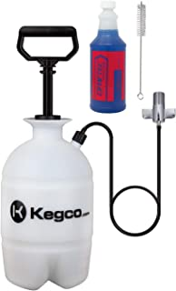 Draftec DTPCK Deluxe Beer Line Cleaning Kit Hand Pump Pressurized Keg with 32 oz. Cleaner