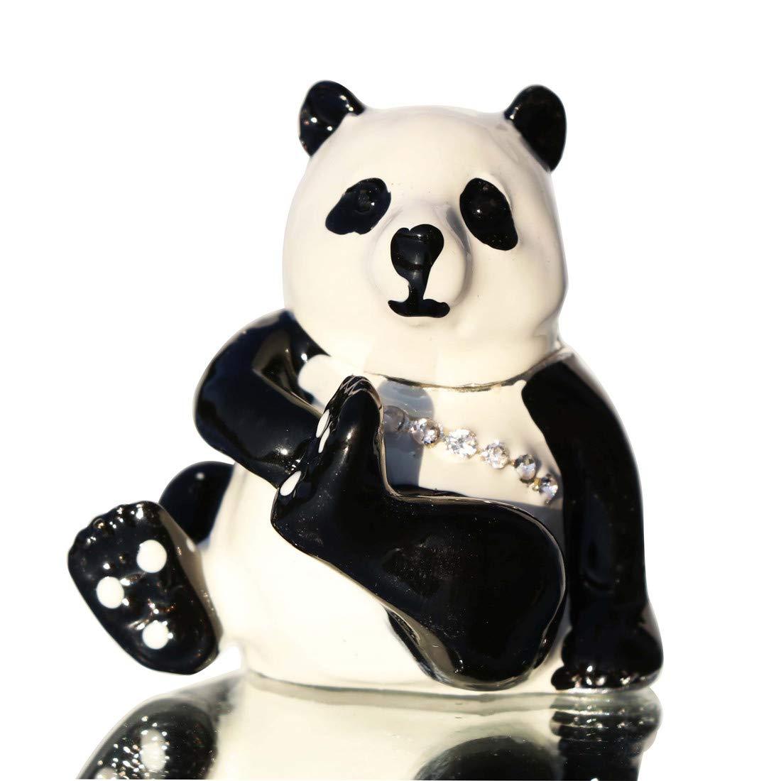 Image of Cute Panda Bear Hinged Box