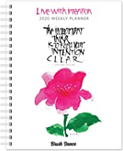 Live with Intention 2020 6 x 7.75 Inch Weekly Desk Planner by Brush Dance, Art Paintings Inspiration Motivation