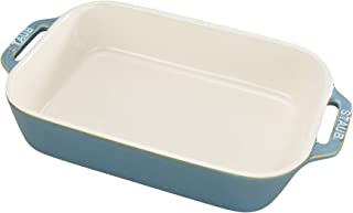 Staub 40511-886 Ceramics Rectangular Baking Dish, 10.5x7.5-inch, Rustic Turquoise