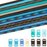 PARACORD PLANET 550lb Type III Paracord Combo Crafting Kits with Buckles (SURF City)