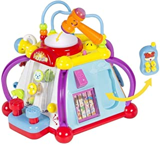 Play Baby Toys Incredible Six Sided Activity Center for Babies and Toddlers -Non Stop Activities for Developing All Five Senses, Baby Toy Center Fun Time Play time