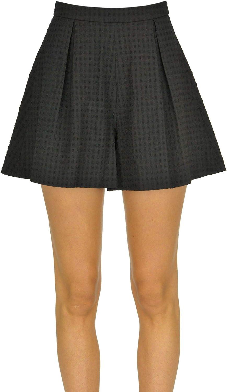 L'AUTRE CHOSE Women's MCGLPNH000005007E Black Cotton Skirt