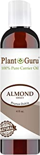Sweet Almond Oil 4 oz Cold Pressed Carrier 100% Pure Natural For Skin, Body, Face, and Hair Growth Moisturizer. Great For Creams, Lotions, Lip balm and Soap Making