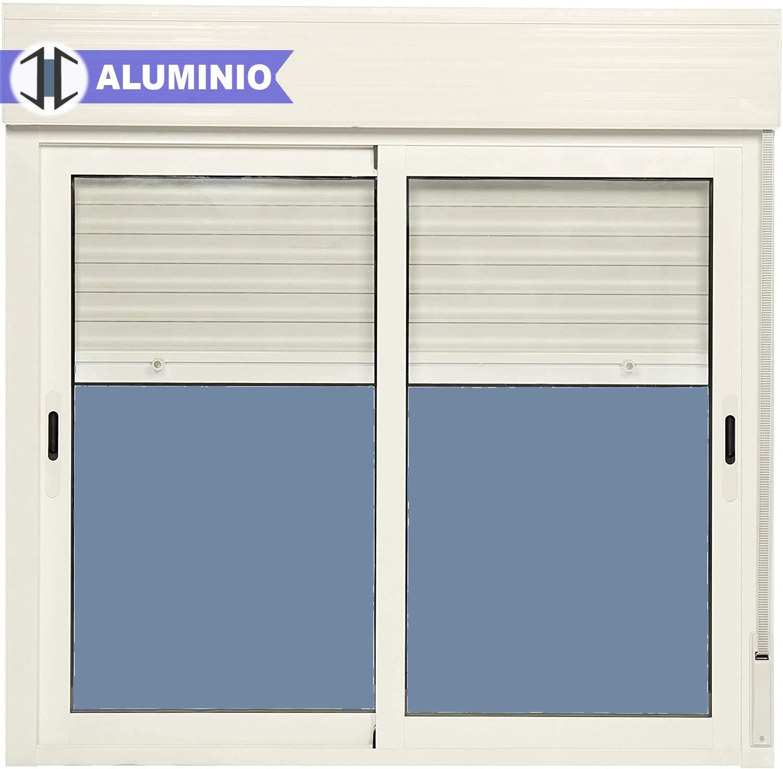 Ventana Aluminio Corredera Con Persiana PVC 1200 ancho × 1155 alto ...