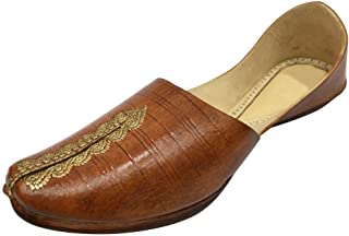Step n Style Mens Khussa Shoes Punjabi Jutti Kolhapuri Shoes Indian Leather Shoes