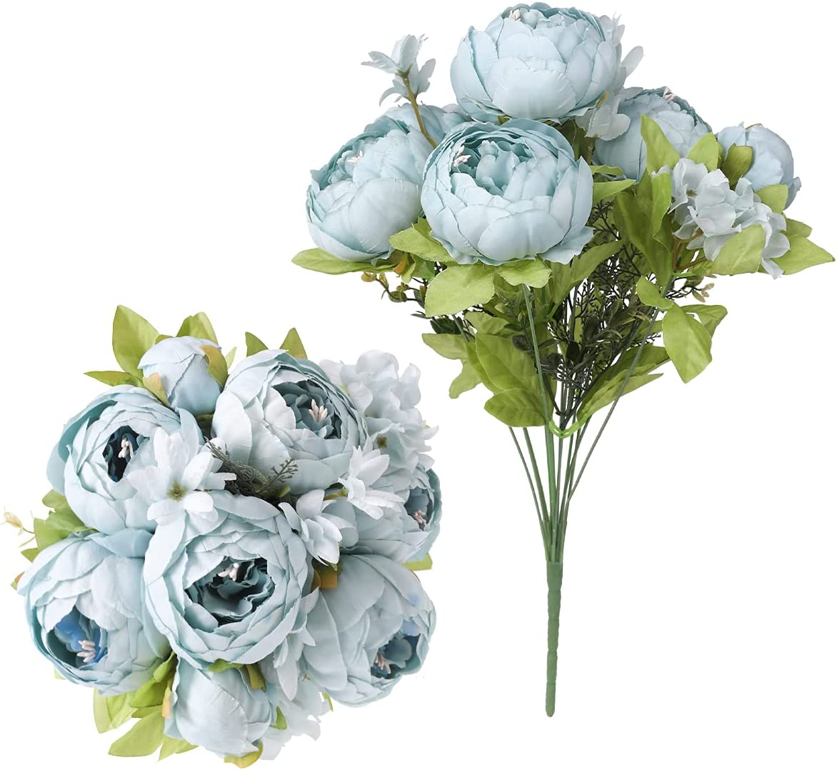 Floweroyal 2pcs Popular brand in the world Artificial Peony Jacksonville Mall Vintage Bridal Bou Flowers Silk