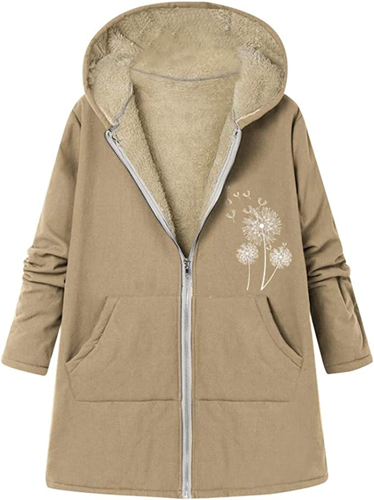 TOPUNDER Pockets Thicker Zipper Hooded Size Plus Wint Women Max 42% OFF Coat Max 45% OFF