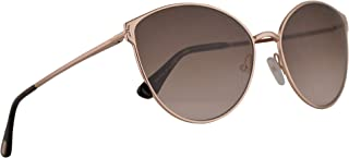 FT0654 Zeila-02 Sunglasses Shiny Rose Gold w/Brown Gradient 60mm Lens 28F FT654 TF 654 TF654