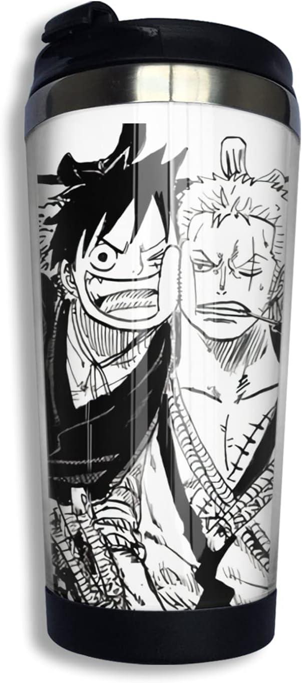 One Piece Monkey D Luffy Anime High order Coffee Thermos Mug Memphis Mall Print 3d N Cup