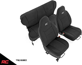 Rough Country Neoprene Seat Covers Black Compatible w 1997-2001 Jeep Cherokee XJ Front/Rear Custom Water Resistant 91023