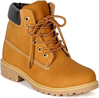 Womens Terrain Leatherette Multi Color Padded Collar Hard Toe Boot - Wheat