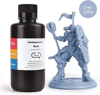 ELEGOO 3D ABS-Like Resin LCD UV-Curing Resin 405nm Standard Photopolymer ABS-Like Resin for LCD 3D Printing 500Gram Grey
