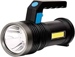 Super Bright LED Portable Searchlight Waterproof Spotlight Power Display COB Work Lamp USB Rechargeable Flashlight for Fis...