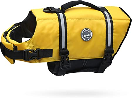 Vivaglory Ripstop Dog Life Jackets, Reflective & Adjustable Preserver Vest   Amazon