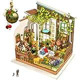 Rolife Maison De Poupée Miniature avec Lumière Ouverte Modèle De Jardin Mini Maison en Bois pour Adultes Cadeaux pour Les...