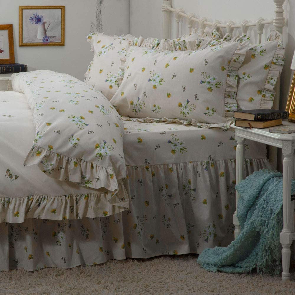 Belledorm Bluebell Meadow Mesa Mall Some reservation Fitted Ivory Valance Queen