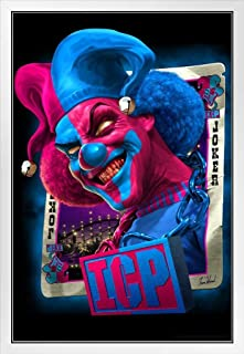 Carnage JCC Joker Card Collection ICP Insane Clown Posse Music Band Tom Wood Fantasy White Wood Framed Poster 14x20