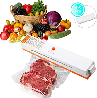Mackertop Vacuum Sealer Machine, Automatic Vacuum Sealing for Food Preservation, Suitable for Home Use and Camping