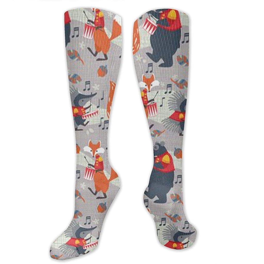 裏切り者火曜日タイトル靴下,ストッキング,野生のジョーカー,実際,秋の本質,冬必須,サマーウェア&RBXAA Women's Winter Cotton Long Tube Socks Knee High Graduated Compression Socks Woodland Marching Band Socks