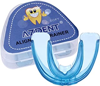 AZDENT Updated Dental Mouth Guard Orthodontic Appliance Tooth Alignment Trainer Retainer Soft 1 PC(Blue)