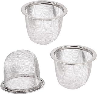 3 x Colino per tè in acciaio Inox Rete Metallica Olio Filtro Filtro Setaccio Set UK