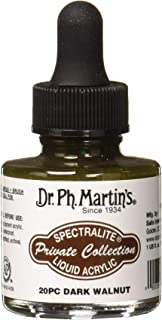 Dr. Ph. Martin's SPEC10OZS20PC Spectralite Private Collection Liquid Acrylics (20PC) Arcylic Paint Bottle, 1.0 oz, Dark Wa...