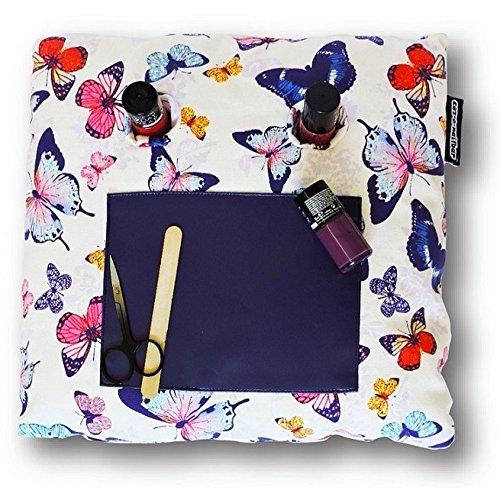 Coz-E-Nailbar Nail Bar Varnish Manicure Cushion - Hummingbird, Flamingo, Vintage Floral, Tropical Fern, Polka Dot Spotty, Tattoo, Butterfly Popsicle Prints (Butterfly)
