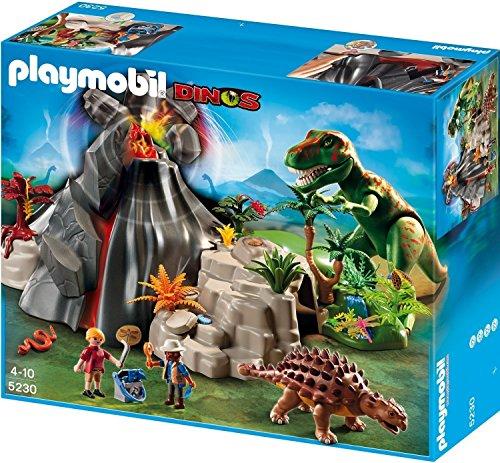 PLAYMOBIL: Volcán con Tiranosaurius Set