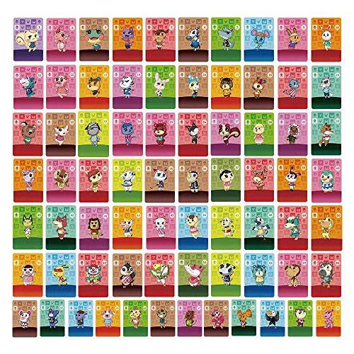 TPLGO 72 Stück NFC-Tag-Spielkarten für Animal Crossing New Horizons für Nintendo Switch / Switch Lite / Wii U mit durchsichtigem Kunststoffgehäuse