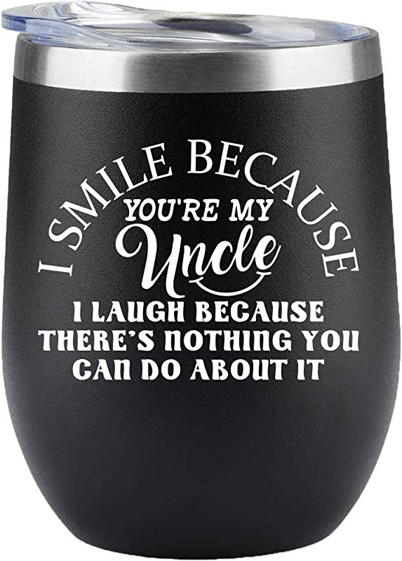 Uncle Gifts Best Uncle Gifts From Niece Nephews Christmas Gifts Birthday Father S Day Wine Glass