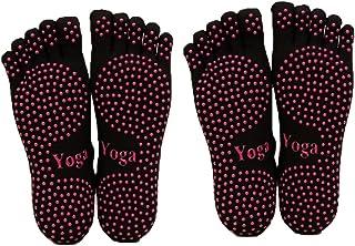 ThreeH, Yoga Calcetines Antideslizantes Cinco dedos para mujeres Yoga Pilates Dance Ballet 2 pares Tamaño4.5-7
