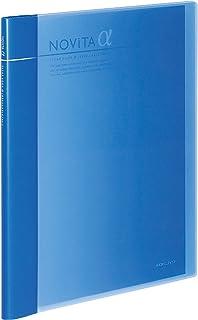 コクヨ ファイル クリアファイル 追加式 ノビータα 表紙 A4 12ポケット×2冊付 青 ラ-NT24B