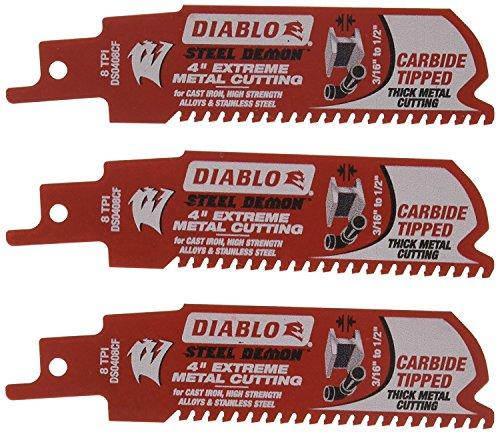 Freud DS0408CF3 Diablo Carbide Metal Cutting (3 Pack), 4'