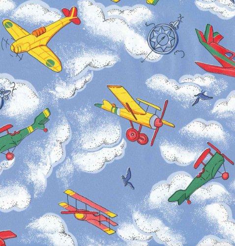 Klebefolie - Möbelfolie Flugzeuge f Kinder - 45 cm x 200 cm Dekorfolie Kinderzimmer