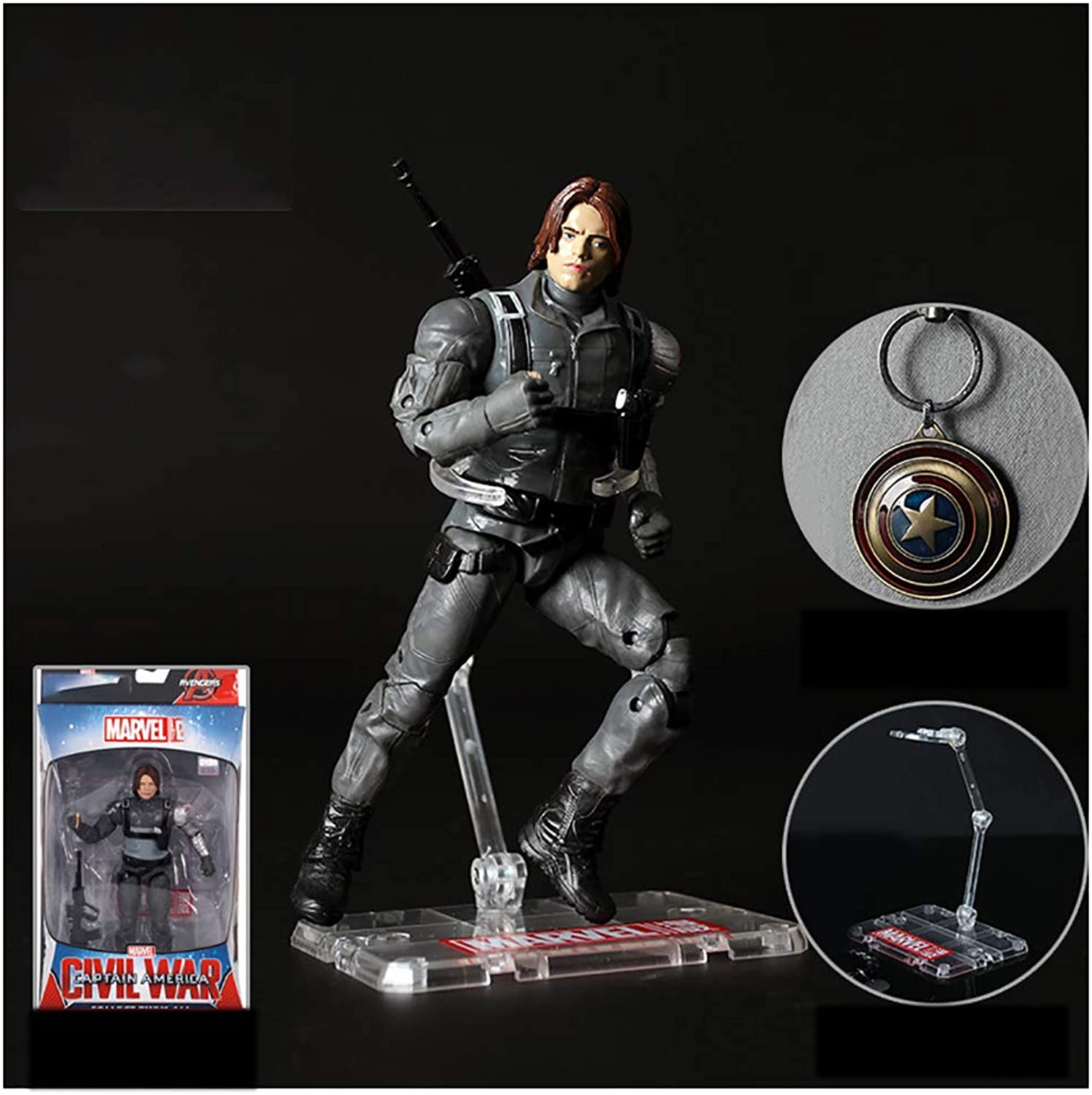 Anime Model Excellent Model Anime Model PVC Made Painted PrePainted Figure Model Decoration Puppet Toy Paint Tool Box's Winter Soldier