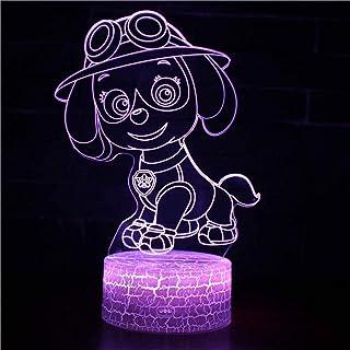 Skye - Lampe 3D à illusion de la Pat' Patrouille - Accessoires de jeu pour bureau, anniversaire, vacances, Halloween, idée...