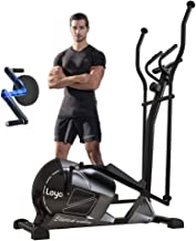 LOYO Magnetic Elliptical Machine for Home Use,Elliptical Training Machine with 8 Levels Adjustable Resistance LCD Monitor ...