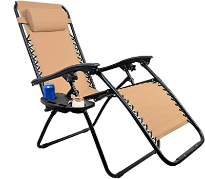 Cchainway Universal Zero Gravity Chair Tray - Zero Gravity Cup Holder, Big Clip for Zero Gravity Lounge Chairs with Mobile Device Slot, Snack Tray, Water Cups Tray