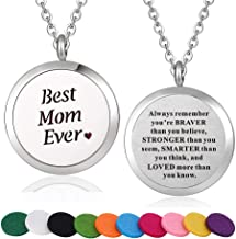 WPFdesign Stainless Steel Aroma Therapy Aromatherapy Essential Oil Diffuser Necklace Locket Pendant