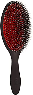 Denman D81L Large Hair Brush with Soft Nylon Quill Boar Bristles - Porcupine Style Cushion Brush for Grooming, Detangling, Straightening, Blowdrying and Refreshing Hair – Black