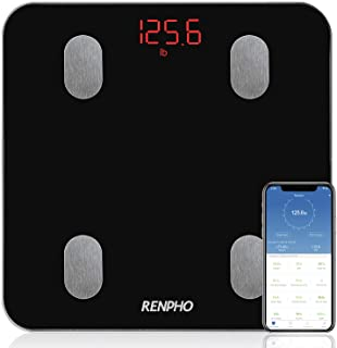 Bluetooth Body Fat Scale, RENPHO Smart Digital Bathroom Weighing Scales Body Composition Monitors with Smartphone App for ...
