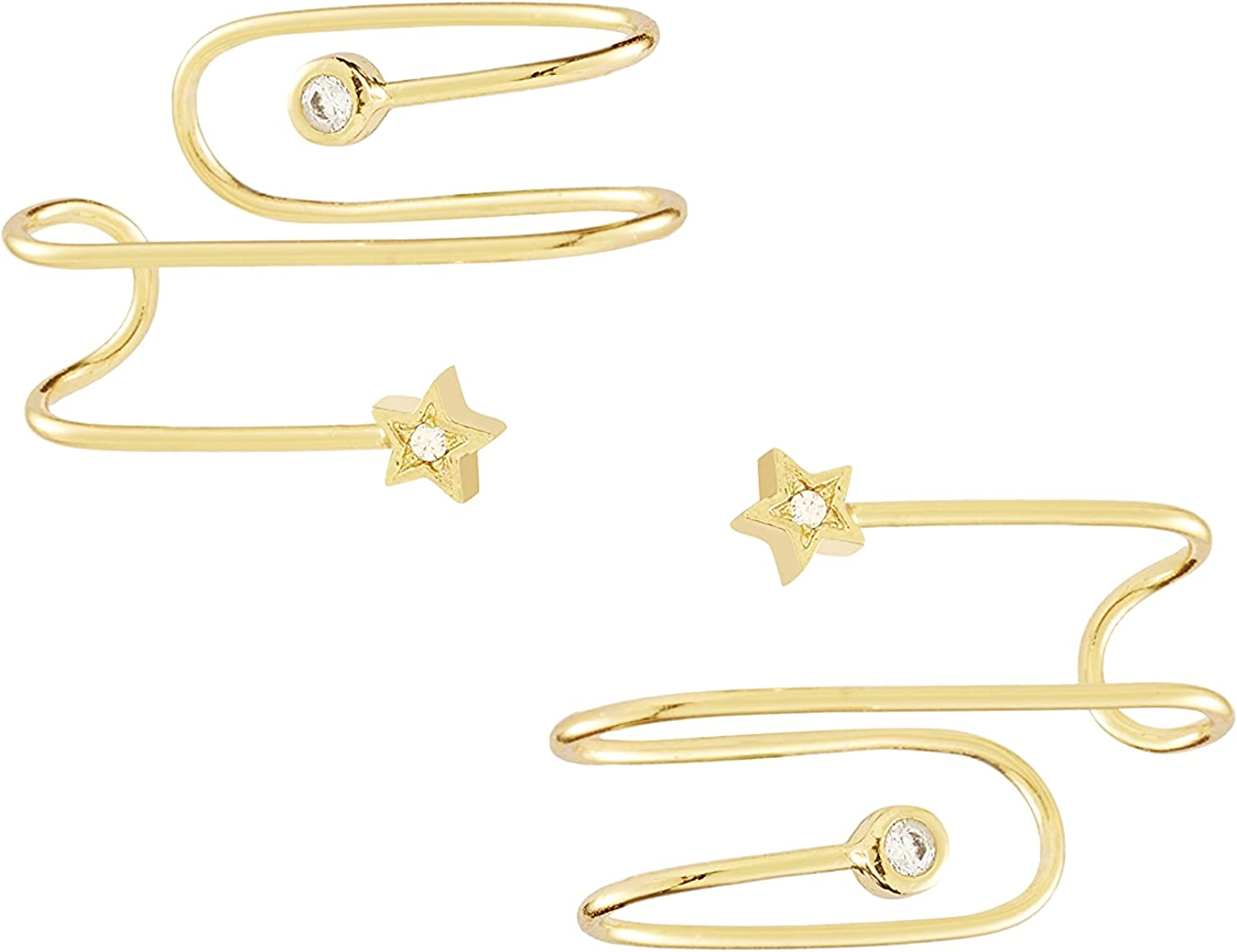 Wanderlust + Co In The Stars Gold Ear Cuffs - 14K Real Gold Plated Jewelry
