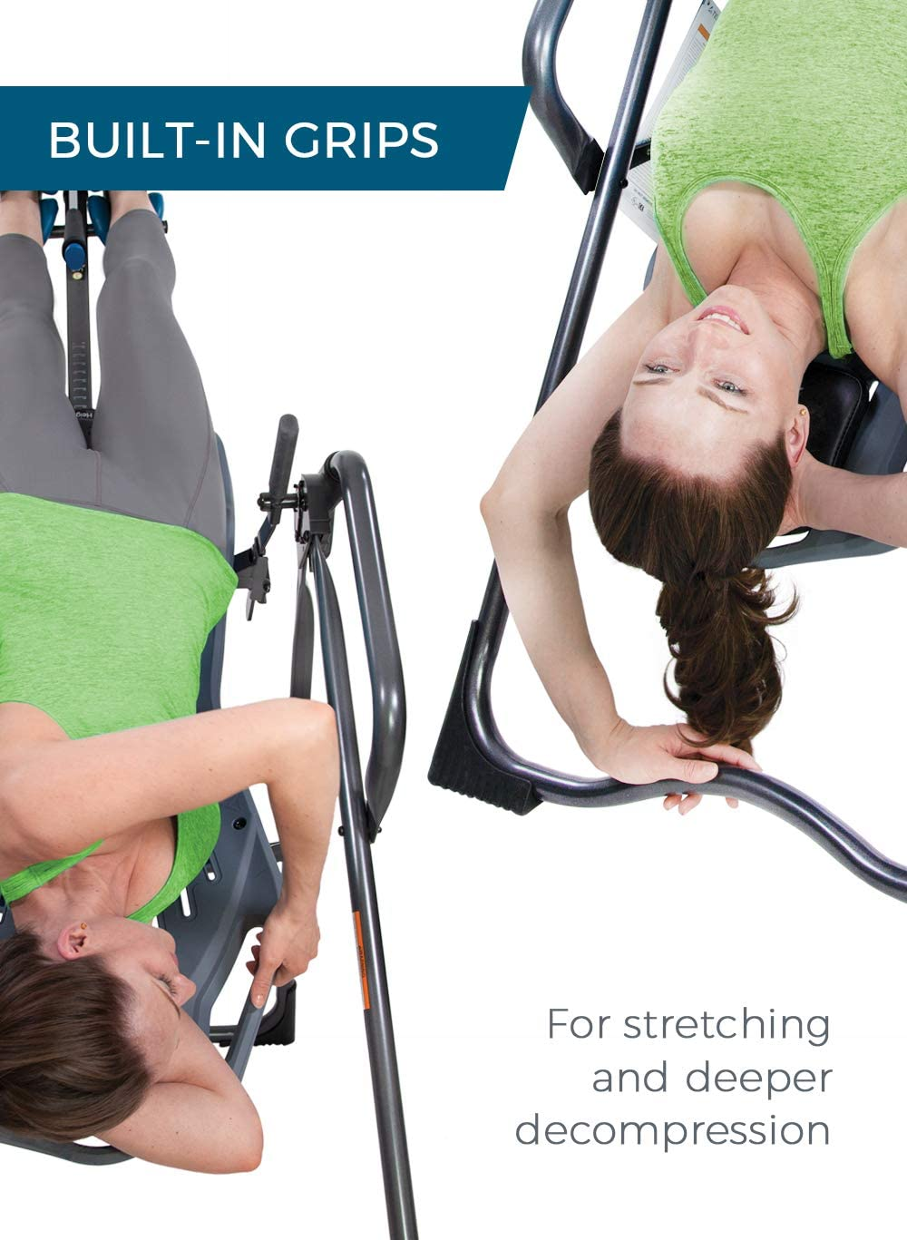 Back Pain Relief Kit Teeter FitSpine X Inversion Table FDA-Registered