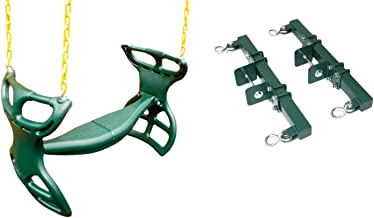 Eastern Jungle Gym Heavy-Duty Plastic Horse Glider Swing Seat Set Including Back-to-Back..