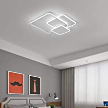 Ganeed LED Ceiling Light, Modern Ceiling Lighting Fixtures, White Square Flush Mount Ceiling Lamps, 42W Acrylic LED Chande...